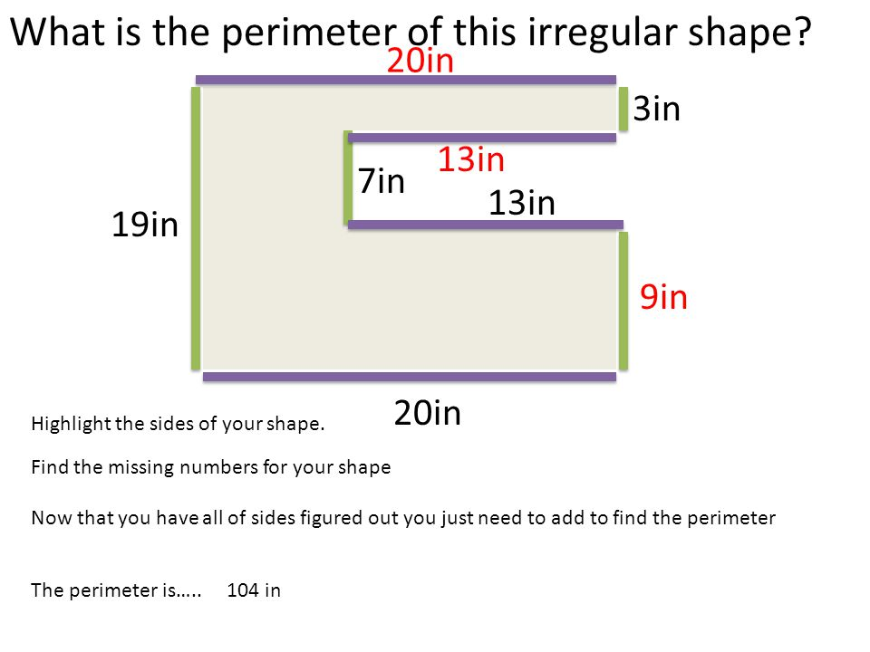 What is the perimeter of this irregular shape ppt video online what is the perimeter of this irregular shape ccuart Image collections