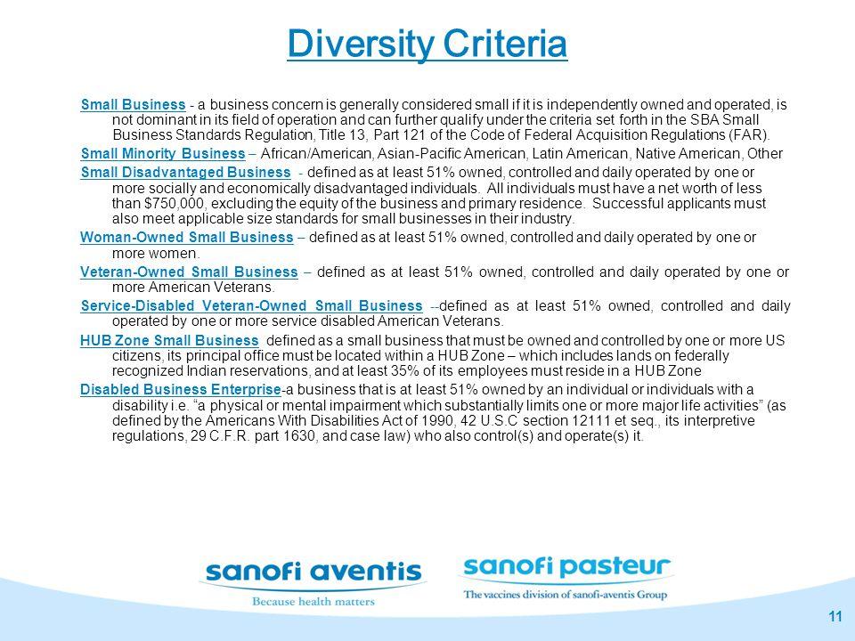 Diversity Criteria