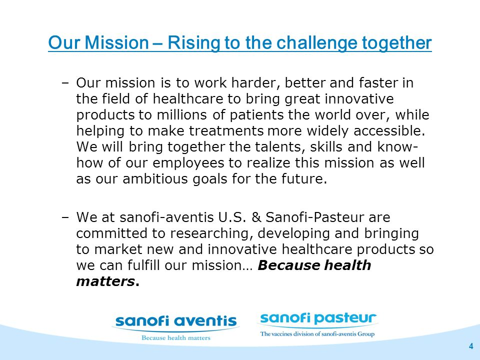 Our Mission – Rising to the challenge together