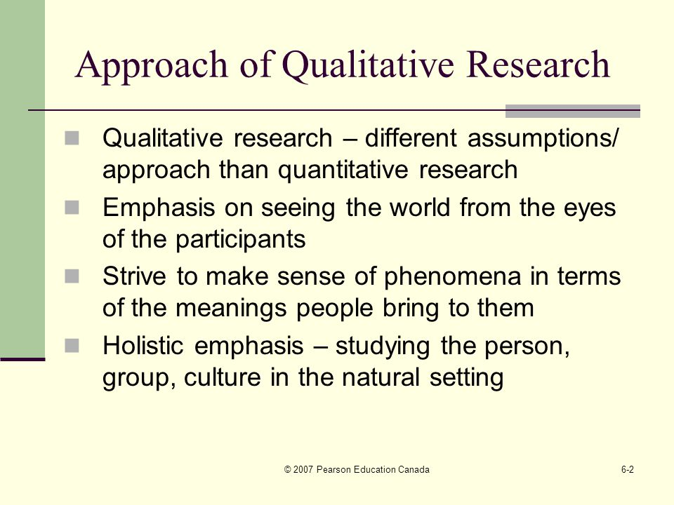 approaches to quantitative research Quantitative approaches in this module, the four approaches to quantitative research are described and examples are provided learning objectives:.