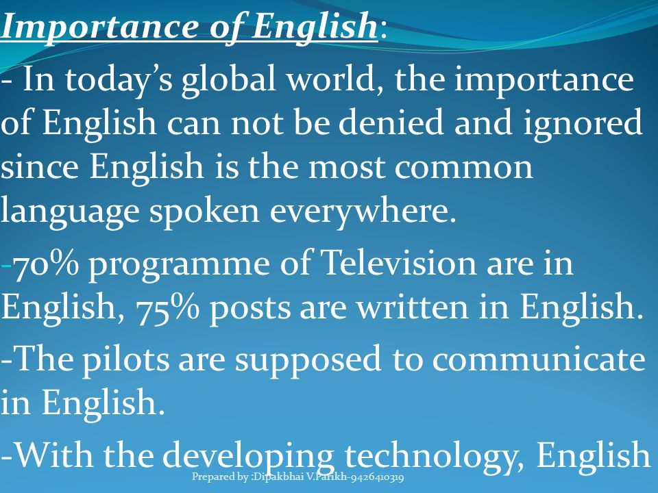 Role of english