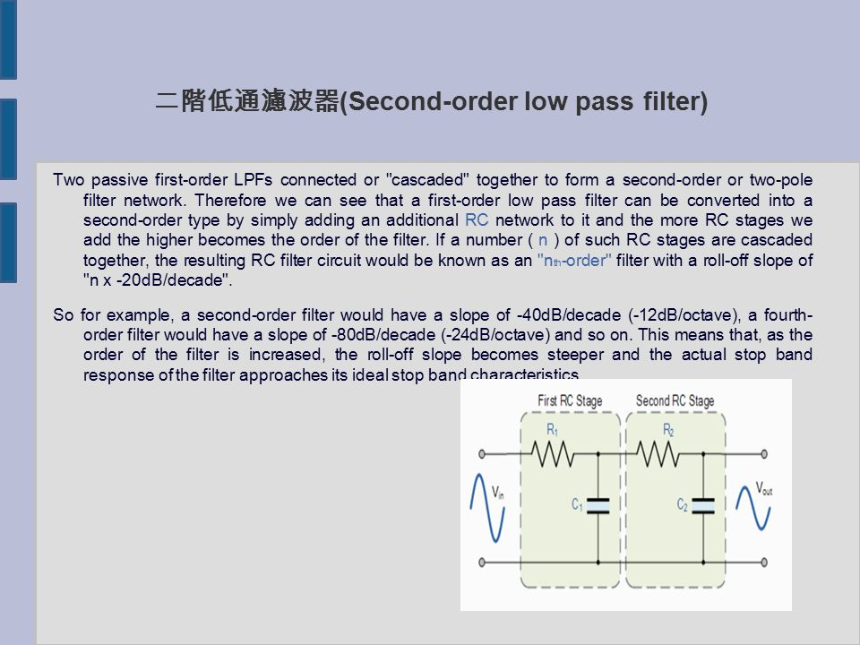second order low pass filter pdf