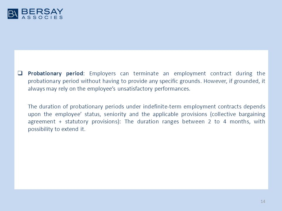 Doing business in france overview of labour law aspects ppt download 14 probationary platinumwayz
