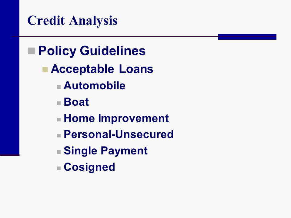 Evaluating Consumer Loans Ppt Video Online Download