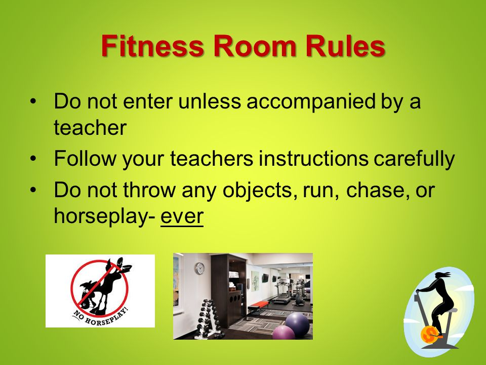 Introduction to fitness lesson workout room