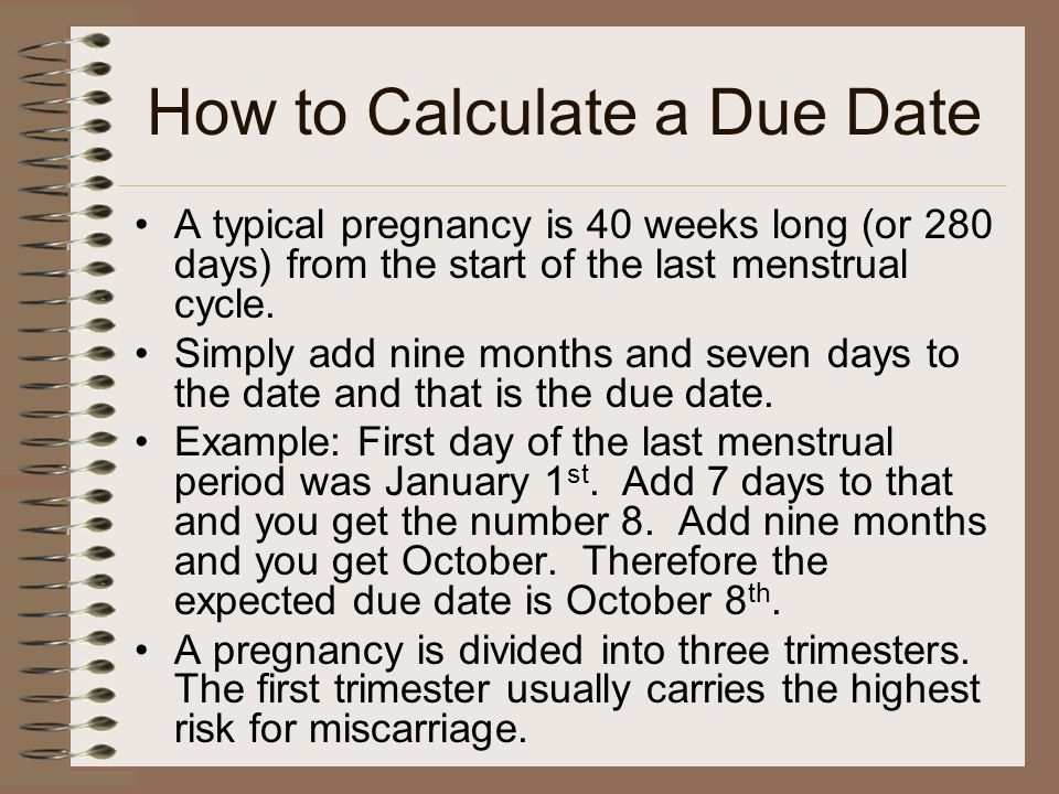 calculate due date carbon dating
