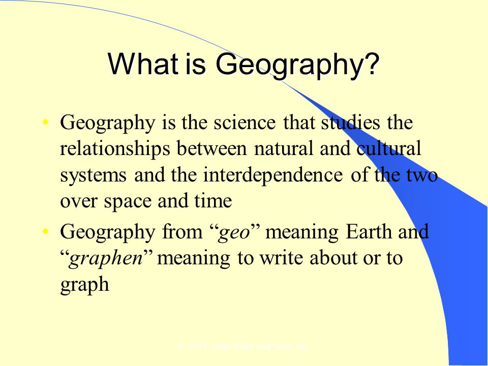 Physical geography by alan arbogast chapter 1 ppt video for Definition of space in a relationship