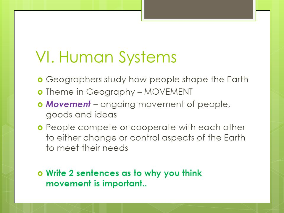 why human geography is important essay Human geography is concerned with the spatial aspects of human existence physical geographers study patterns of climates, landforms, vegetation, soils, and water geographers use many tools and techniques in their work, and geographic technologies are increasingly important for understanding our complex world.