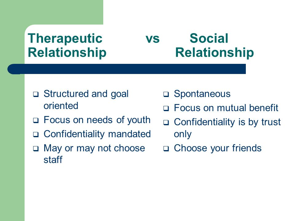 Therapeutic mentoring services ppt video online download for Relation sociale