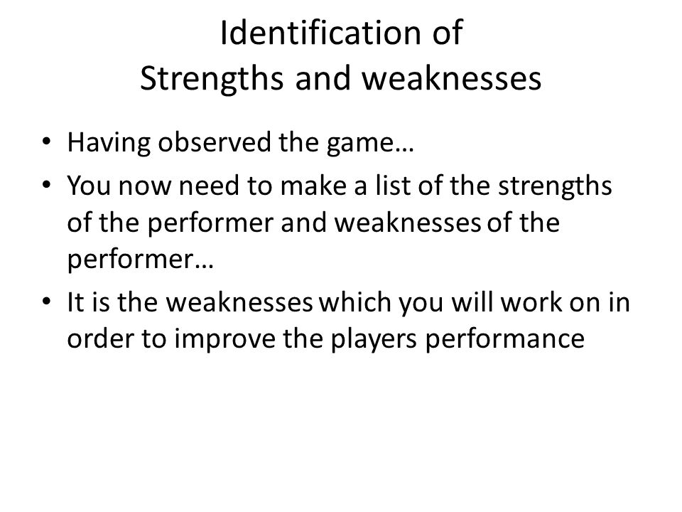 strengths and weakness list Vatozatozdevelopmentco