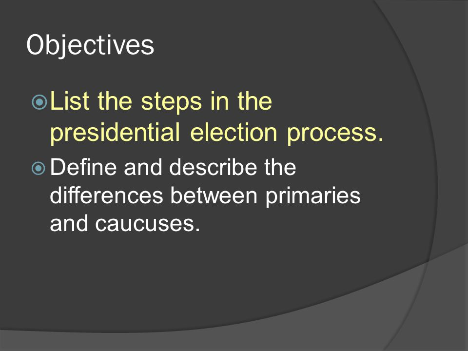 objectives and methodology of automated elections An aims-objectives confusion might arise when you are writing thesis proposal and the introductory thesis chapter it's always an issue in research bids • the objectives don't stack up.