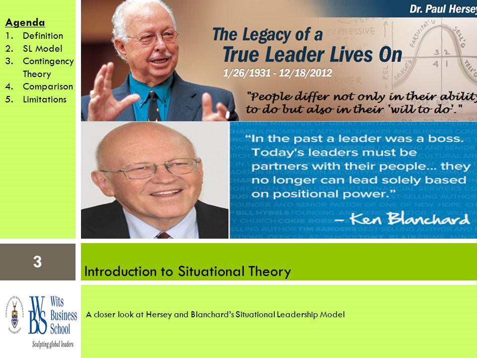 compare and contrast contingency theory hersey blanchard s situational theory Compare contrast situational leadership theory compare and contrast any two theories of leadership in the following hersey-blanchard situational theory.