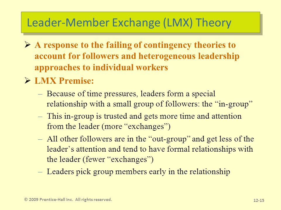 LMX Model How groups are assigned is unclear