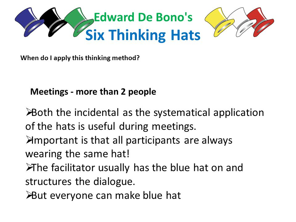 edward de bono six thinking hats pdf download