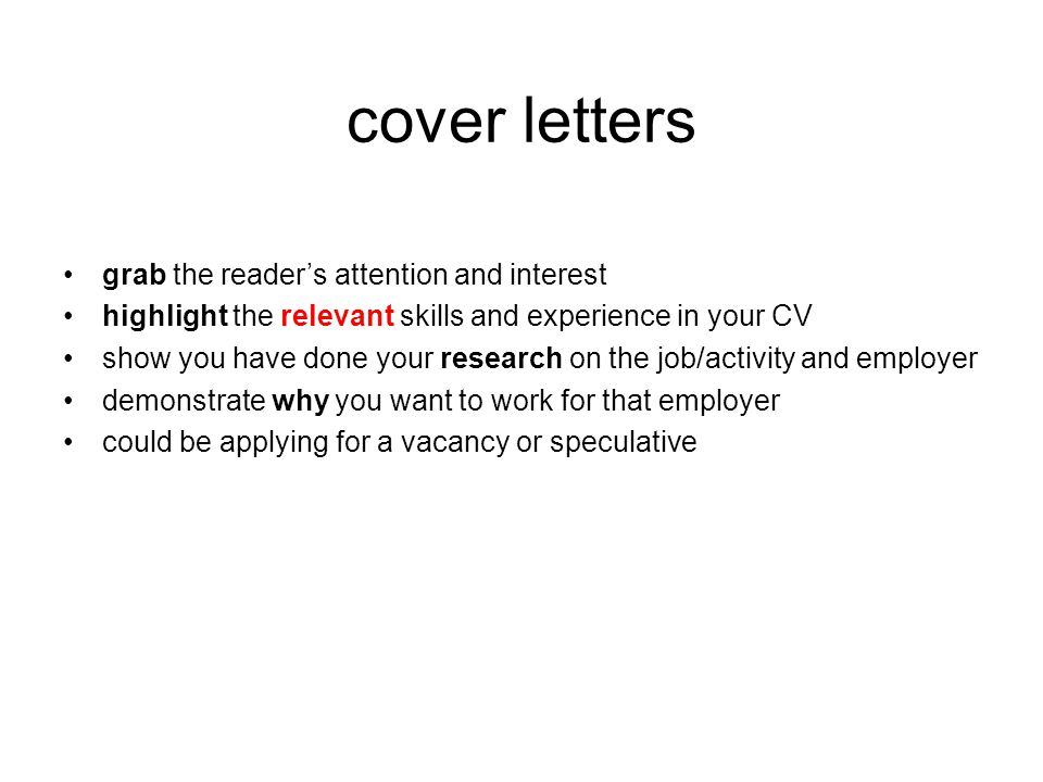 sample speculative cover letters