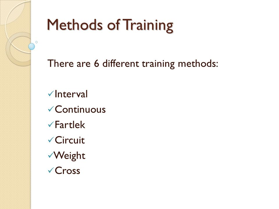 What is training explain the different methods of training