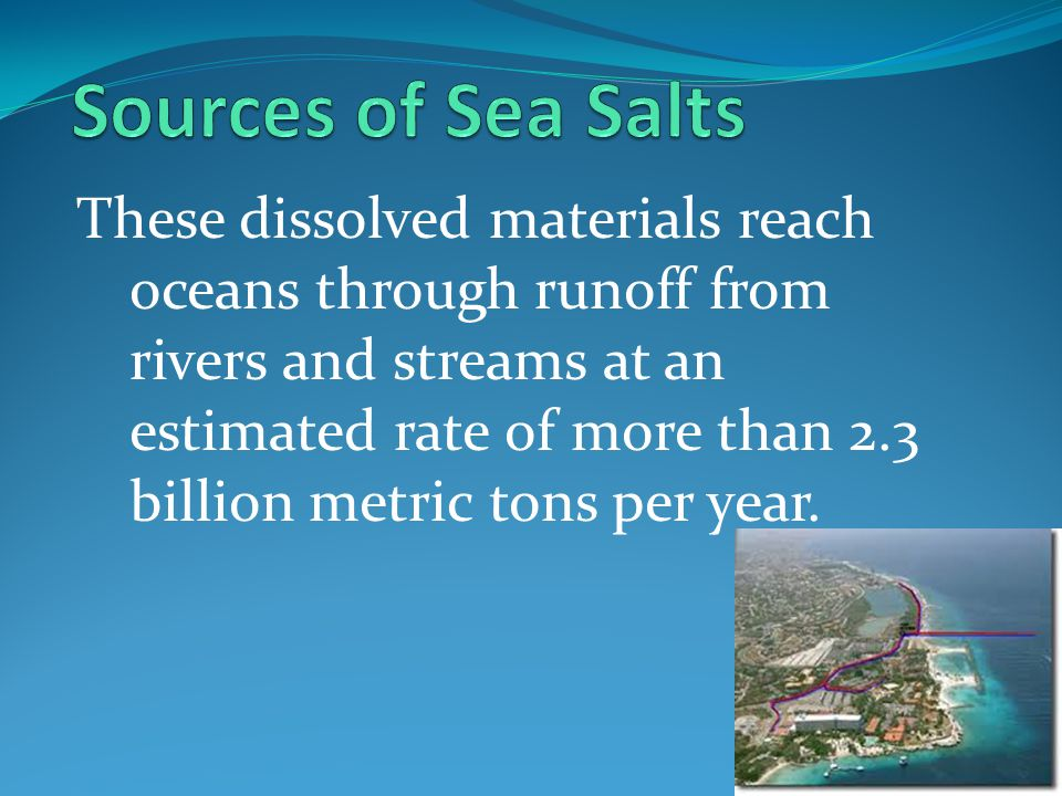 Sources of Sea Salts