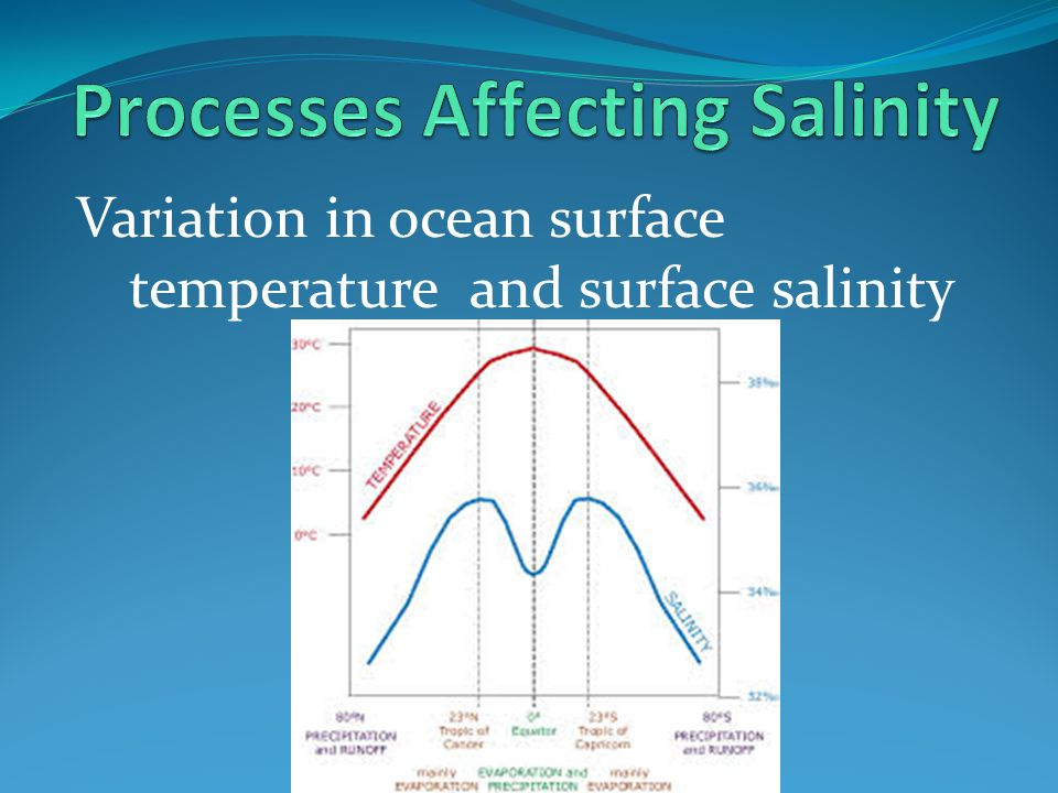 Processes Affecting Salinity