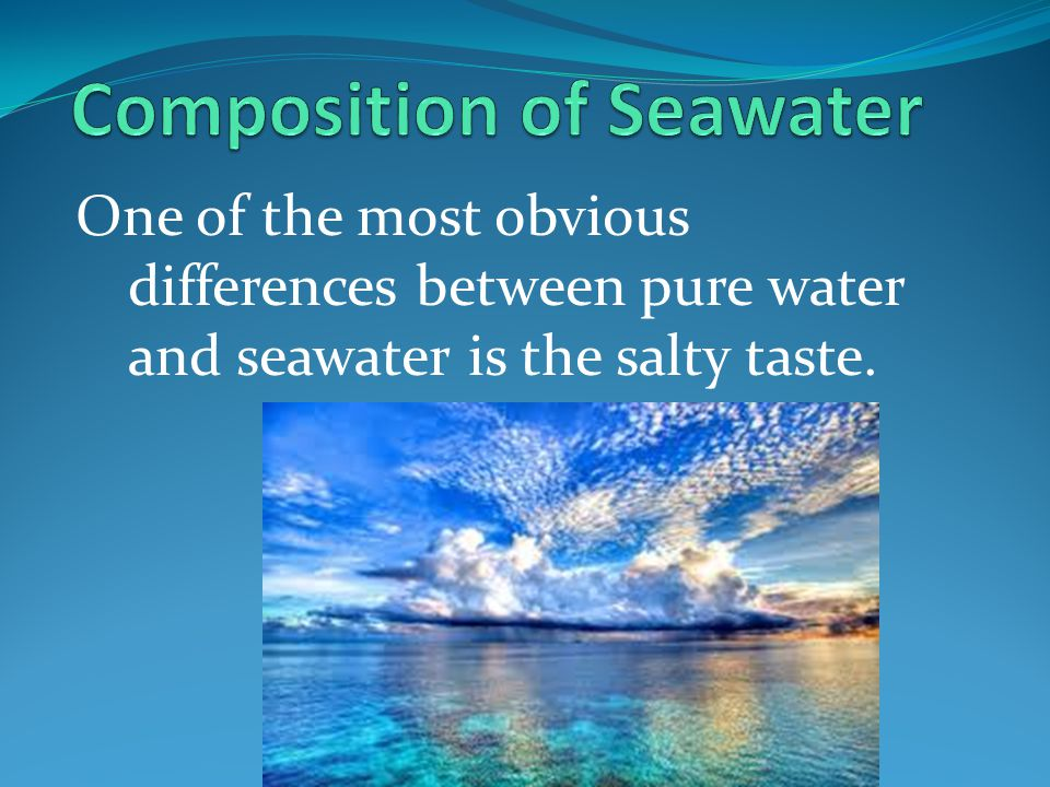 Composition of Seawater