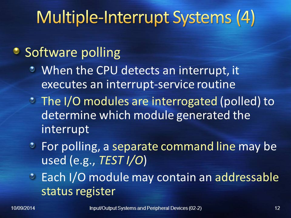 Multiple-Interrupt Systems (4)