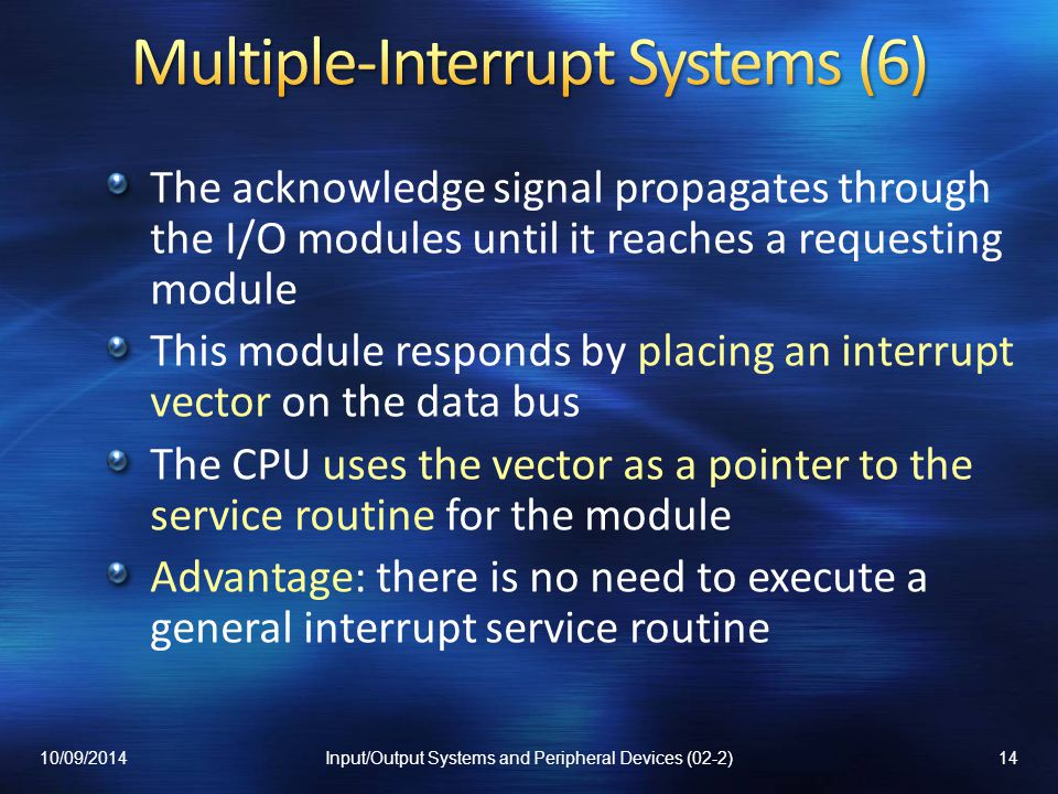 Multiple-Interrupt Systems (6)