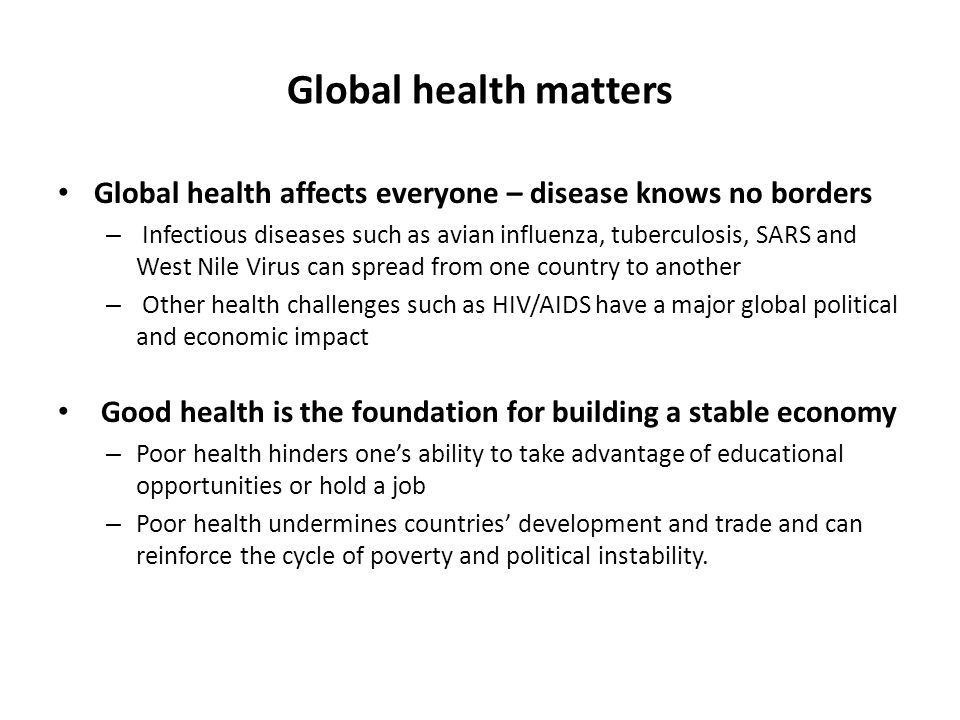 How is globalization affecting the spread of diseases essay