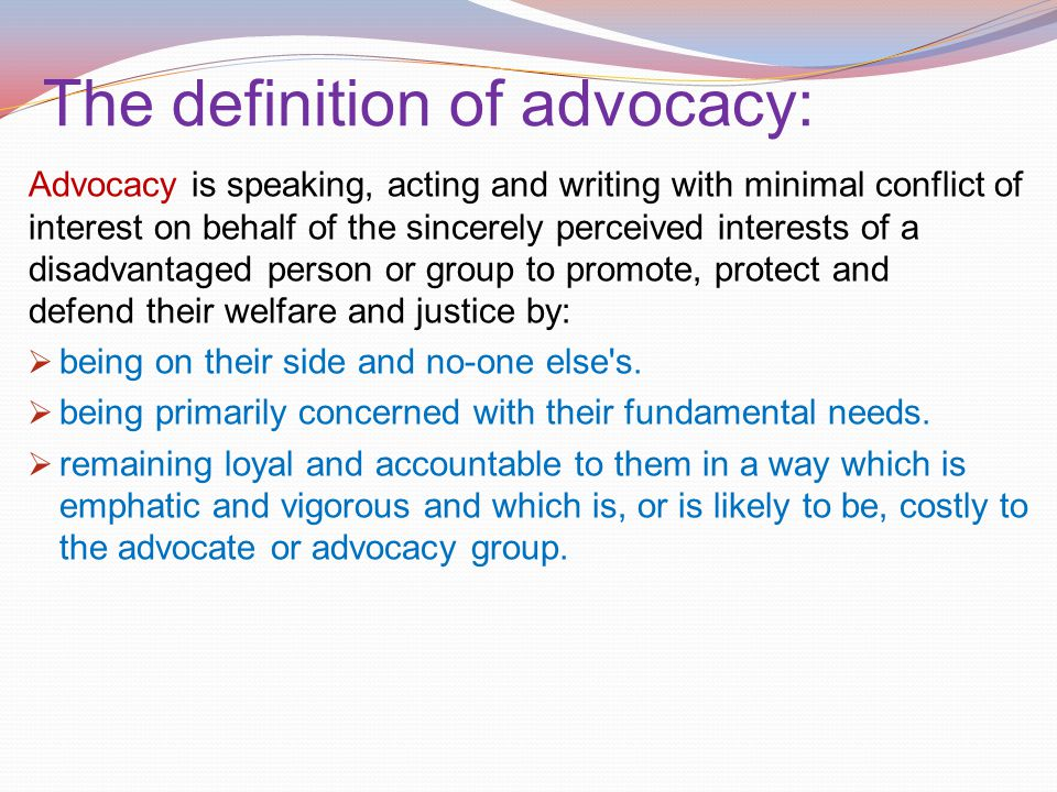 definition for advocacy