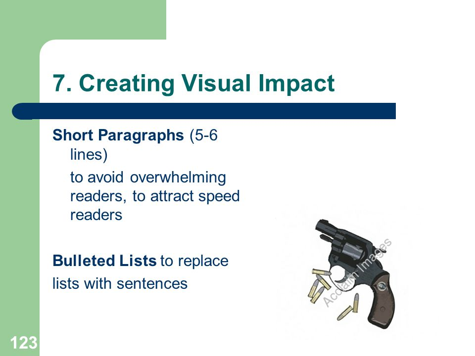 7. Creating Visual Impact