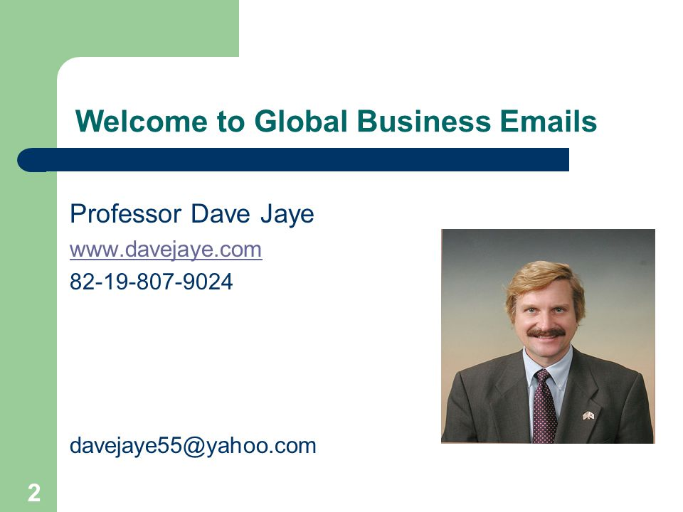Welcome to Global Business Emails
