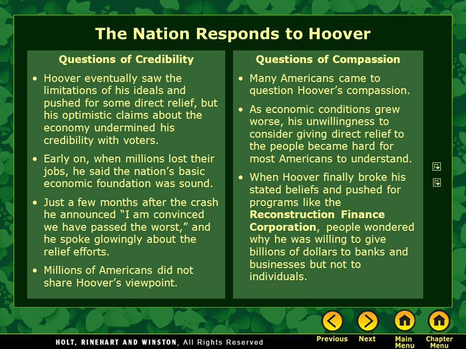 The Nation Responds to Hoover