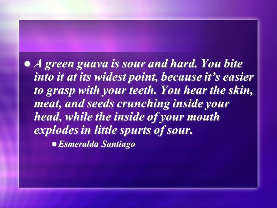 Voice lessonsimagery ppt download a green guava is sour and hard ccuart Image collections