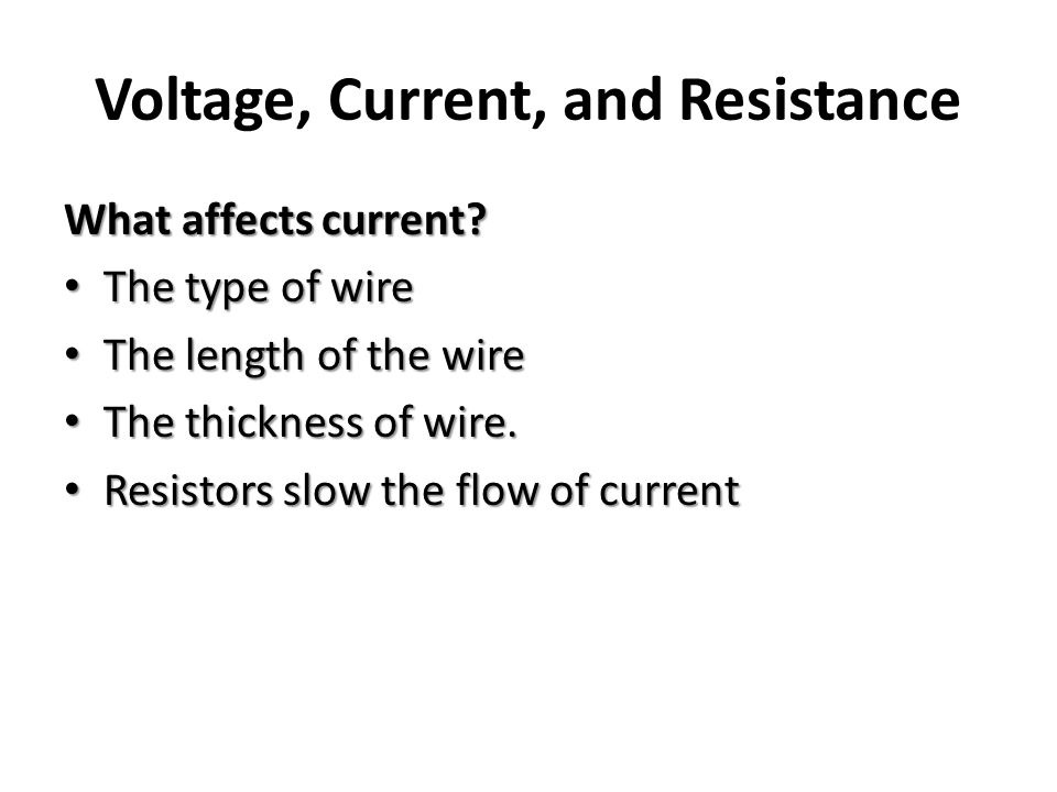 current and resistance of a wire Common wire gauges the common us wire gauges (called awg gauges) refer to sizes of copper wire the resistivity of copper at 20 c is about this table uses this value of resistivity, but it is known to vary by a few.