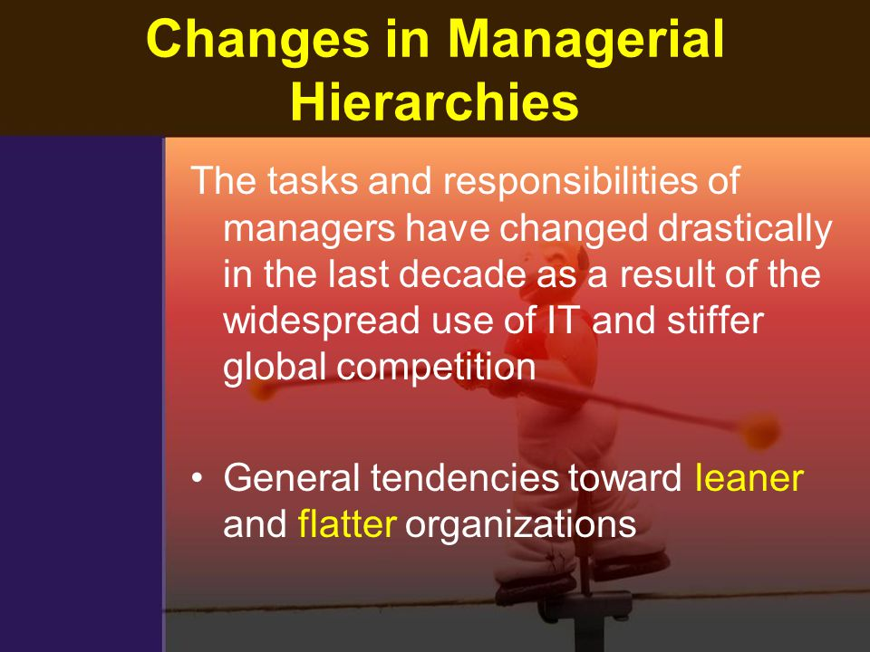 Changes in Managerial Hierarchies