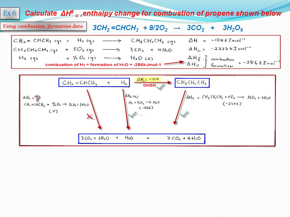 enthalpy of combustion How to calculate heat of combustion calculating the heat of combustion is a useful tool in analyzing fuels in terms of energy the heat of combustion of a substance is defined as the amount of energy in the form of heat is liberated when.