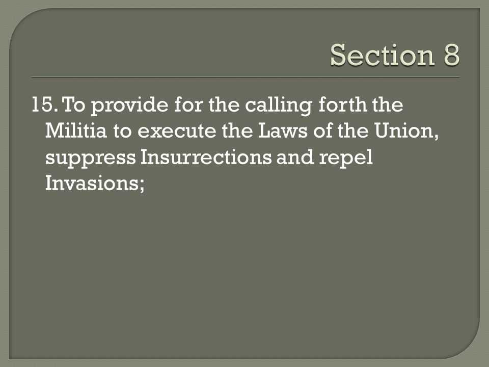 Section 8 15.