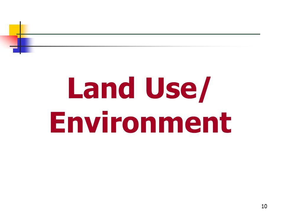 Land Use/ Environment