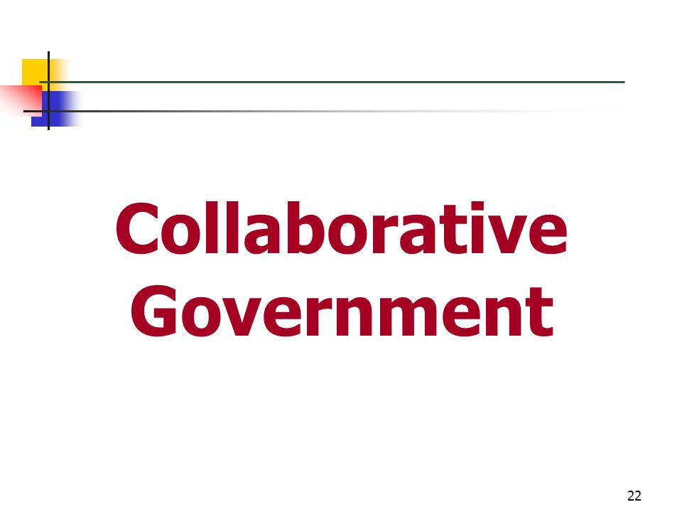 Collaborative Government