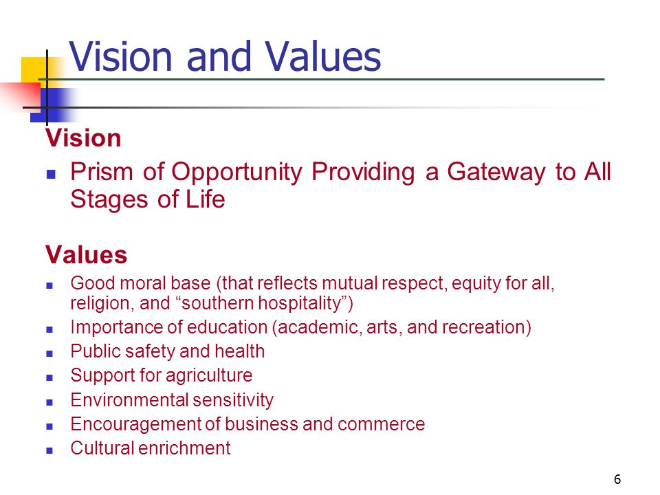 Vision and Values Vision