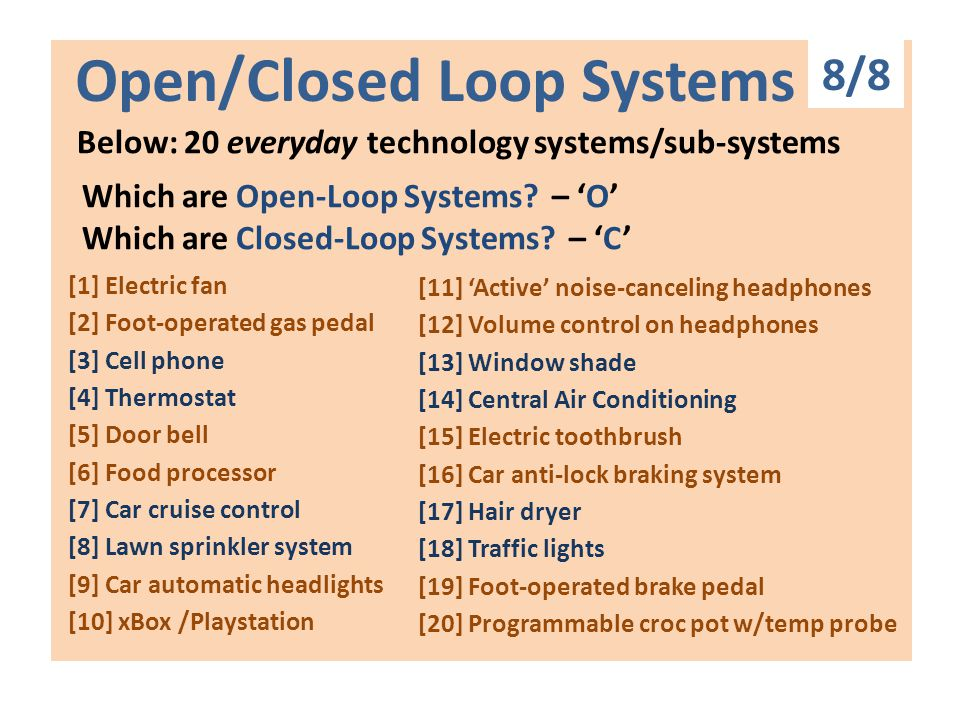 Open Fclosed Loop Systems