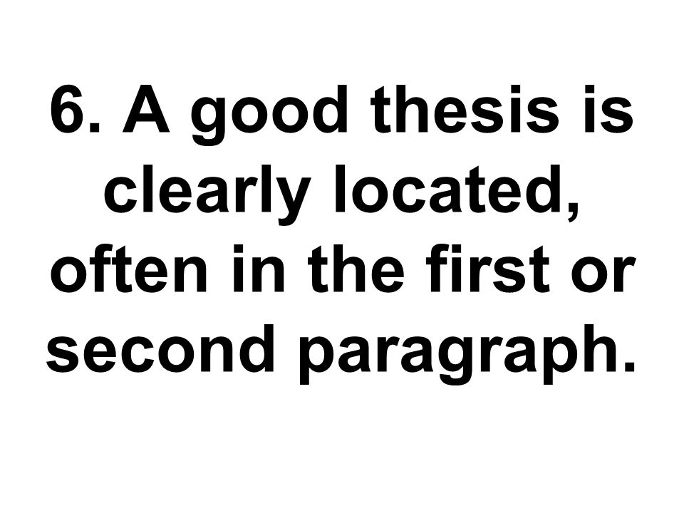 Quick thesis