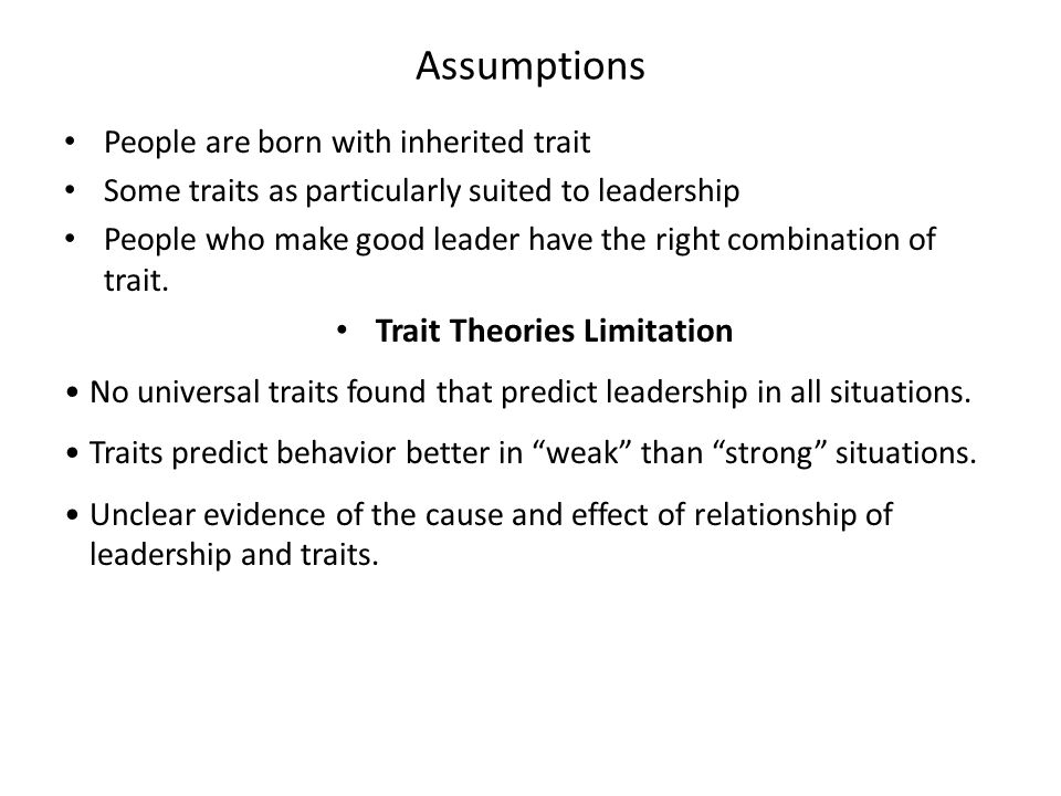leaders are made not born behavioral theories on leadership Leadership management: principles, models and theories dr manoj kumar   was once common to believe that leaders were born rather than made while   employee for inappropriate behavior, but if the confrontation is too late or too  early.