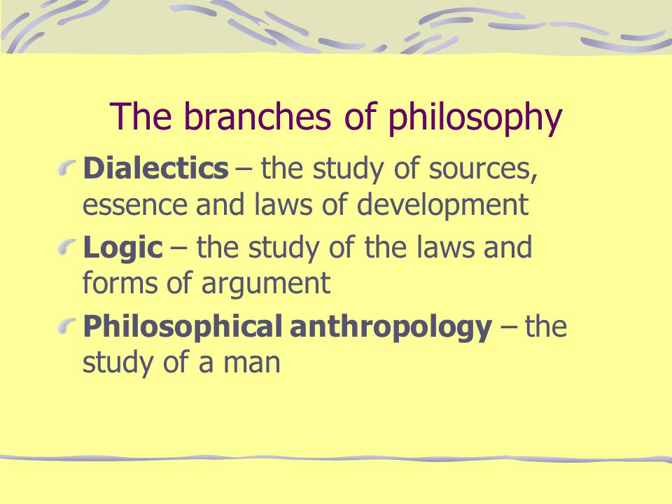 The branches of philosophy