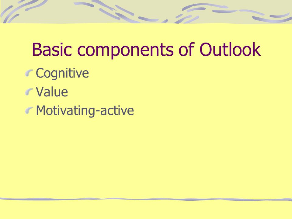 Basic components of Outlook