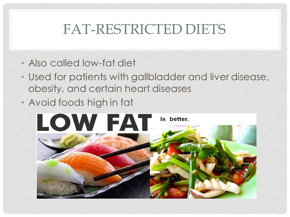 high and low fat diets