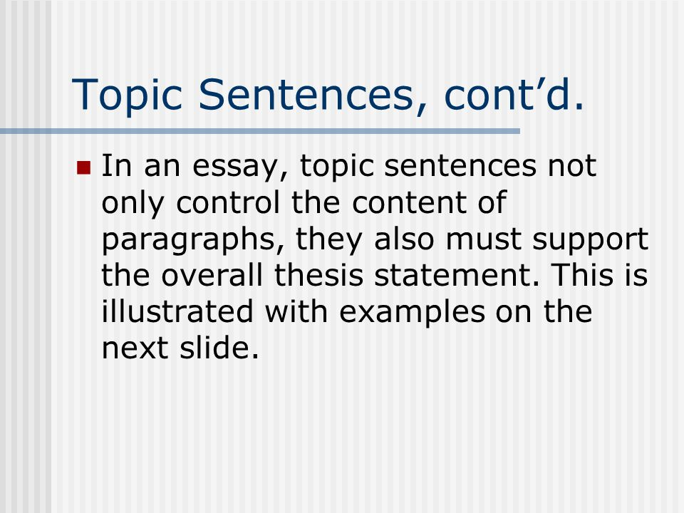 topic essays for irony