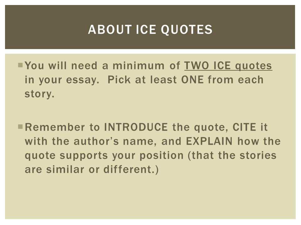 quoting authors in essays When you want to use the author as an authoritative voice in your own writing to introduce an author's position you may wish to discuss your writing how to quote.