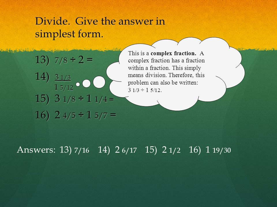 Quarter 2 Test 3 Review XXI. Intro to Fractions & Equivalent ...