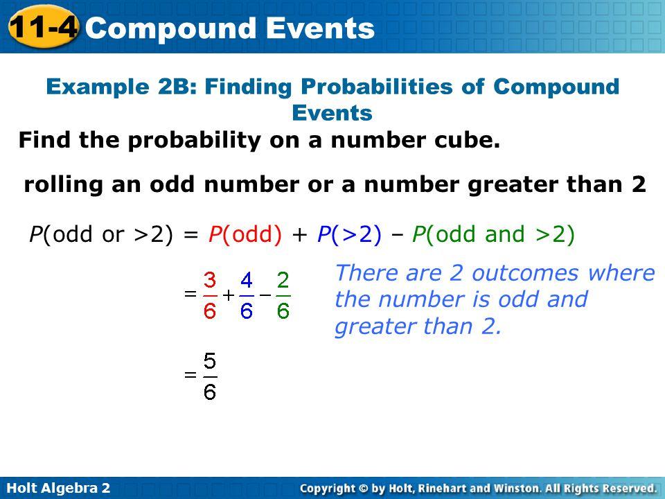 114 Compound Events Warm Up Lesson Presentation Lesson Quiz ppt – Compound Events Probability Worksheet