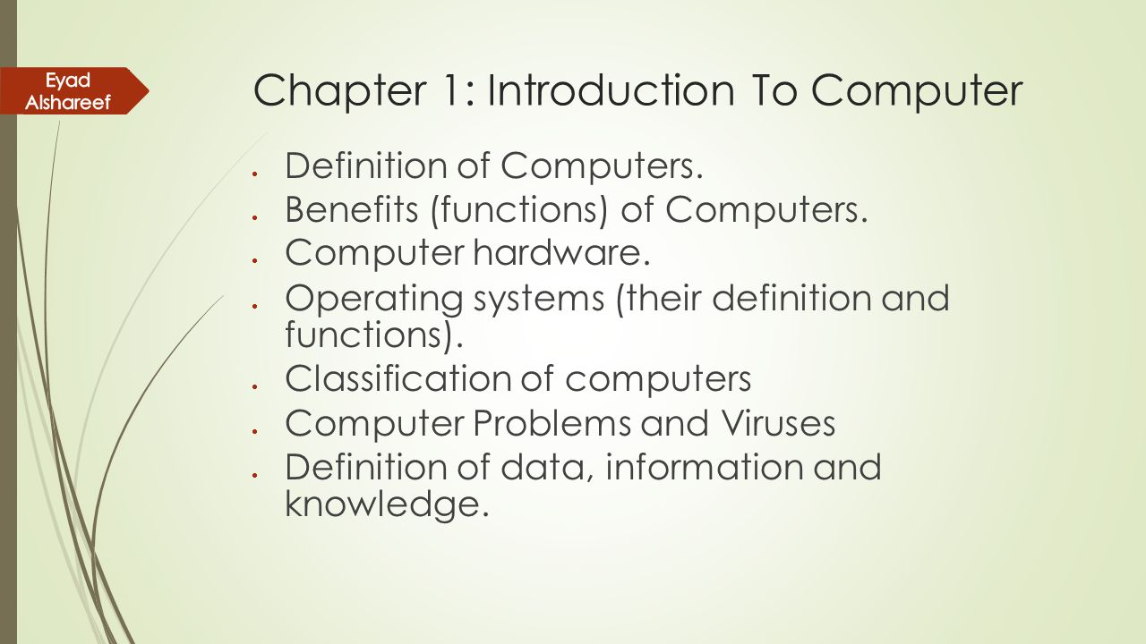 definition and purpose of computer accounting information system A management information system (mis) is a computerized database of financial information organized and programmed in such a way that it produces regular reports on operations for every level of.