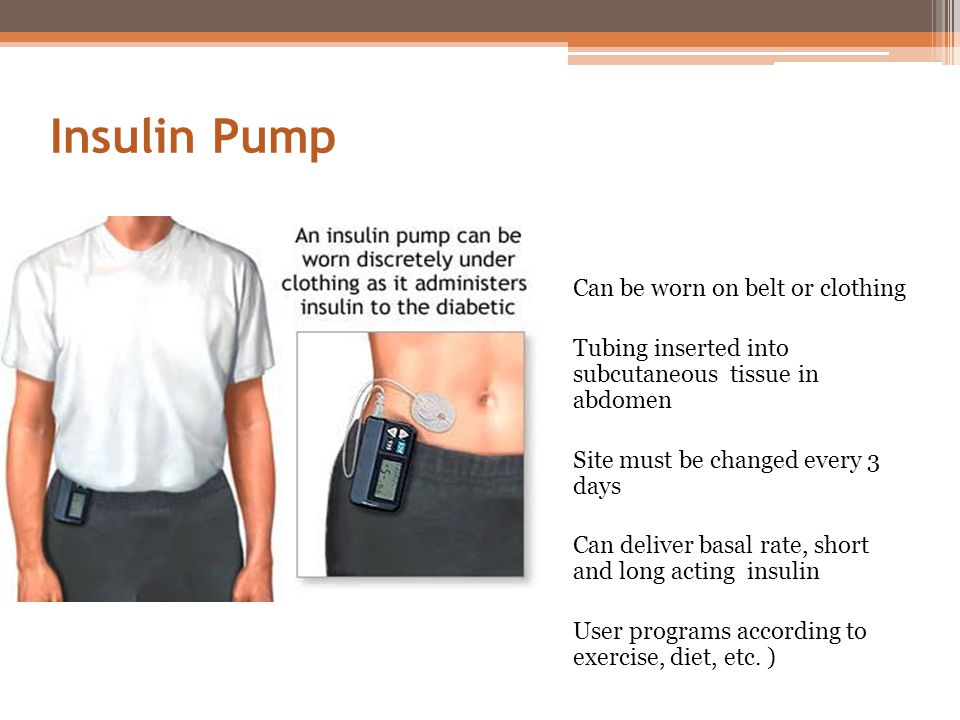 Insulin Pump Can be worn on belt or clothing